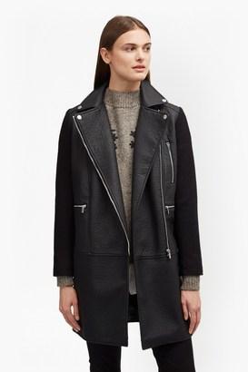 Bertie Biker Wool Coat $278 thestylecure.com