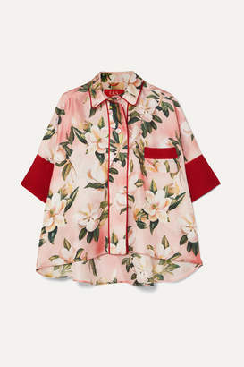 F.R.S For Restless Sleepers Pistis Floral-print Silk-twill Shirt - Pink