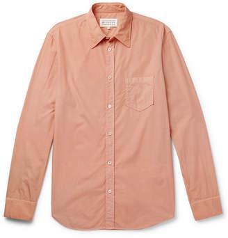 Maison Margiela Slim-Fit Garment-Dyed Cotton-Poplin Shirt - Pink