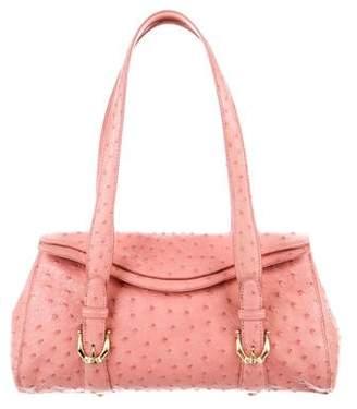 Cece Cord Ostrich Flap Bag