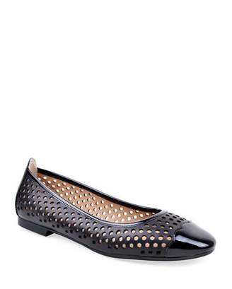 Bettye Muller Concept Janae Perforated Leather Flats, Black