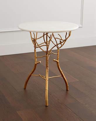 Sara Granite Top Side Table