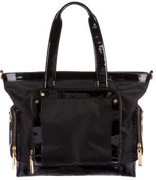 Tory BurchTory Burch Patent Leather-Trimmed Tote