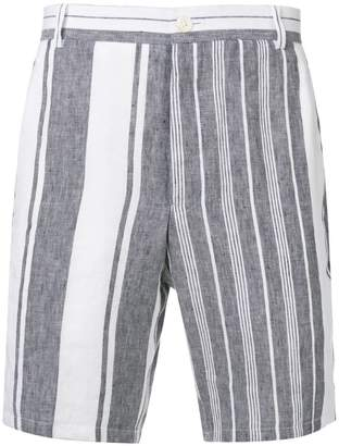 Thom Browne Striped Blanket Linen Short