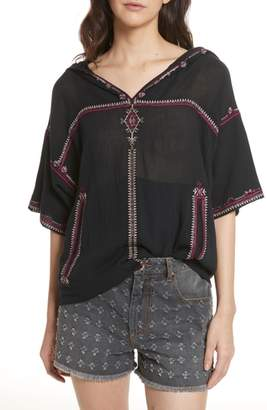 Etoile Isabel Marant Mekki Embroidered Cotton Top