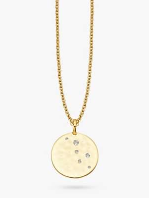 Missoma 18ct Gold Vermeil Hammered Disc Pendant Necklace, Gold