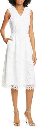 Ted Baker Questy Sleeveless Lace Midi Dress