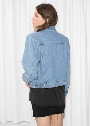 Boxy Shoulder Denim Jacket