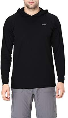 Co Trailside Supply Men's Long Sleeve Running Hoodie Shirt Hooded Tee 2X-Large
