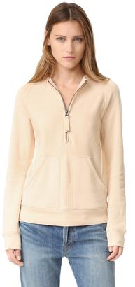 Helmut Lang Terry Shrunken Sweatshirt $345 thestylecure.com