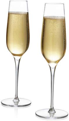 Nambe Vie Champagne Flutes, Set of 2