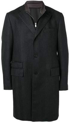 Corneliani layered long overcoat