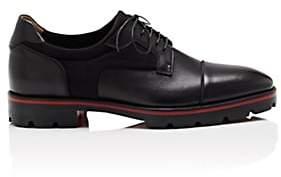 Christian Louboutin Men's Mika Flat Neoprene & Leather Bluchers - Black