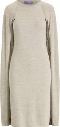 Ralph Lauren Merino Wool Cape Dress
