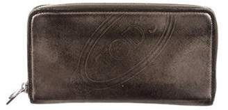 Tod's Metallic Leather Continental Wallet