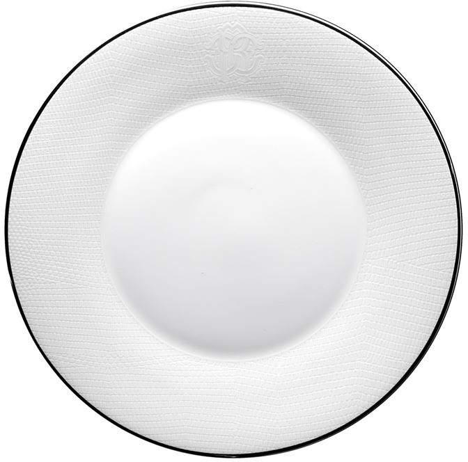 Roberto Cavalli Home Lizzard Platin Soup Plate (22cm)