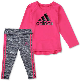 adidas Baby Girls 2-Pc. Logo Graphic Top & Leggings Set