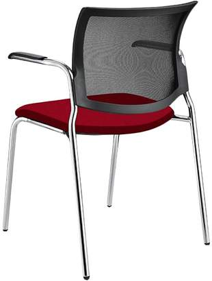 STOCKEXPRESS Office Chairs M100 Stacker with Arms, Diami Red