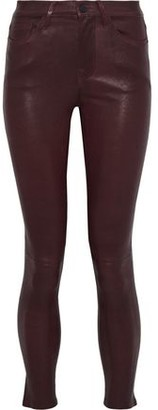Frame Le Skinny Leather Skinny Pants