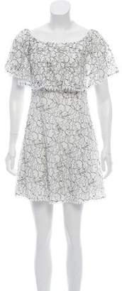 N. Nicholas Floral Lace Dress
