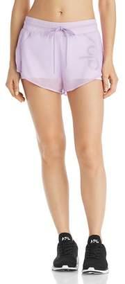 Alo Yoga Ambience Mesh-Overlay Shorts