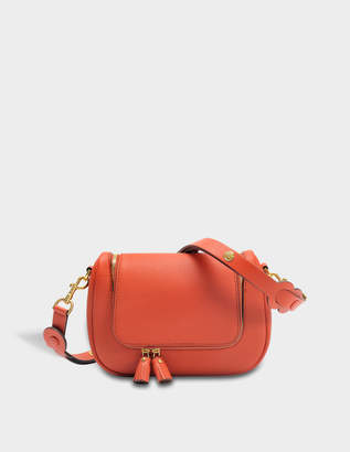 Anya Hindmarch Vere Small Soft Satchel Bag in Burnt Sienna Grained Leather