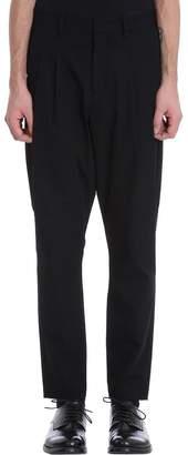 Attachment Black Cotton Pants