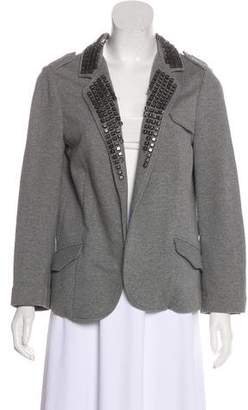 Gryphon Embellished Notch-Lapel Blazer