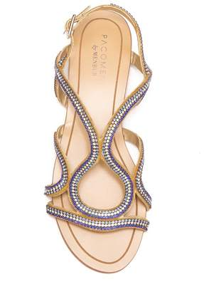 Menbur Acedera Embellished Flat Sandal