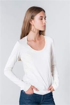 Sonia Rykiel Long-Sleeved Mimosa Print T-Shirt