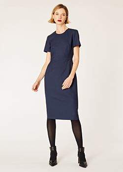 Women's Navy Wool-Twill 'A Dress To Travel In'