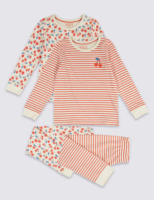 Marks and Spencer 2 Pack Cherry Pyjamas (1-7 Years)