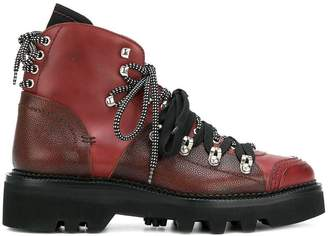 DSQUARED2 lug sole double-laced ankle boots