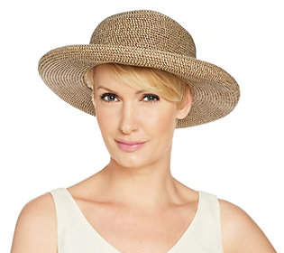Co San Diego Hat Paperbraid Roll-Brim Hat with