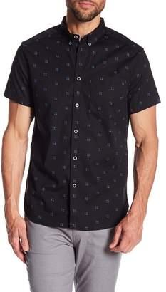 Kenneth Cole New York Windowbox Print Short Sleeve Regular Fit Shirt