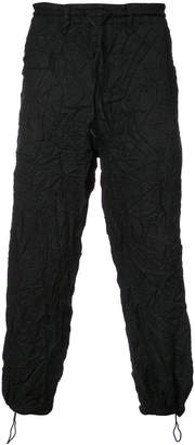 Y-3 wrinkled cropped trousers