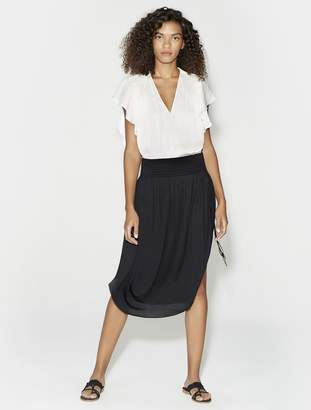 Halston Ruched Midi Skirt