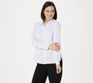 Linea By Louis Dell'olio by Louis Dell'Olio Shirt with Lace Applique & Embroidery