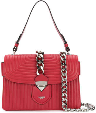 Hidden Lock Shoulder Bag in Burgundy Calf Moschino E8f17rH