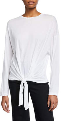 7 For All Mankind Cotton Tie-Front Tee