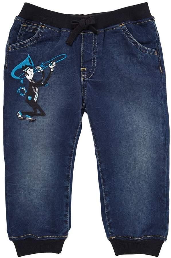 Denim Effect Chambray Pants