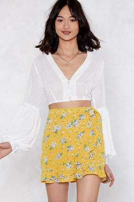 Nasty Gal Bud Out Floral Skirt