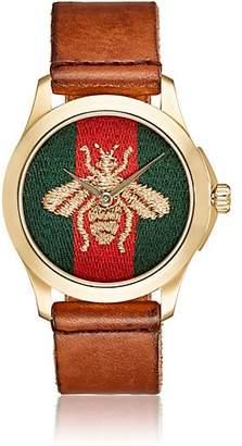 Gucci Men's Le Marché Des Merveilles Leather Watch - Brown