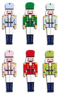 Design Ideas Henry the Nutcracker Shaped Ornaments