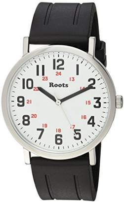 Roots 'Core' Quartz Stainless Steel and Rubber Casual Watch
