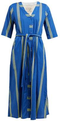 Ace&Jig Leelee Striped Cotton Shirt Dress - Womens - Blue