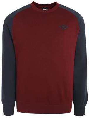 George Umbro Burgundy Raglan Sweatshirt