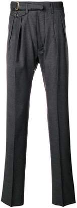 Lardini creased straight leg trousers