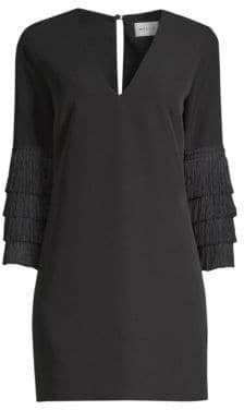 Milly Nicole Fringe Shift Dress