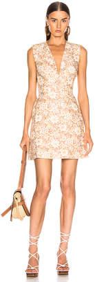 Zimmermann Zippy Lace Up Short Dress in Wallpaper Floral | FWRD